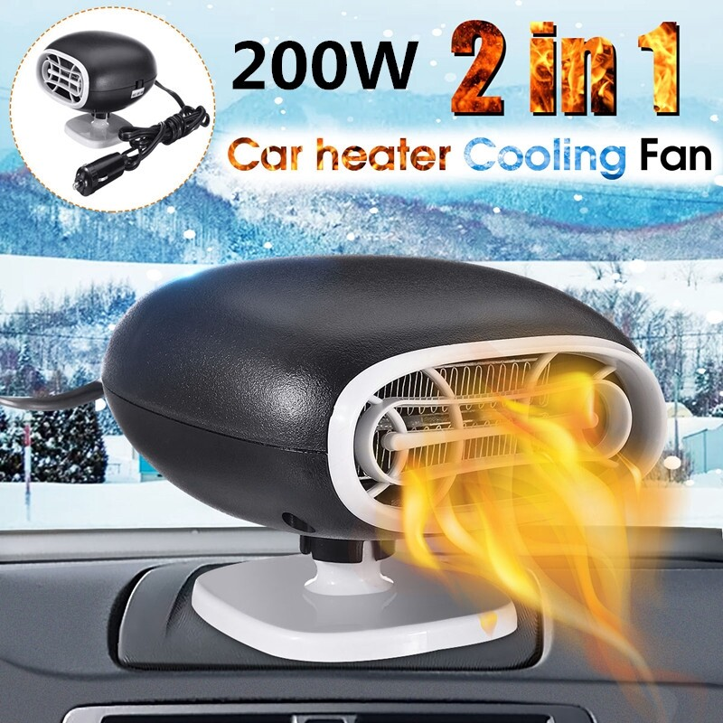 Engine Parts - Car Heater 12V Dash Mount & Hand PORTABLE& Cold Fan Defroster Demister 200W - Car Replacement