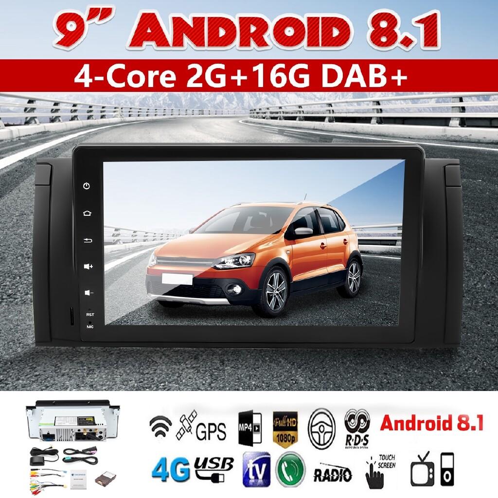 Car Radios - 9\'\' 1 Din Android 8.1 Car Stereo Radio Player Nav Wifi DAB+ For BMW E53 E39 - Electronics