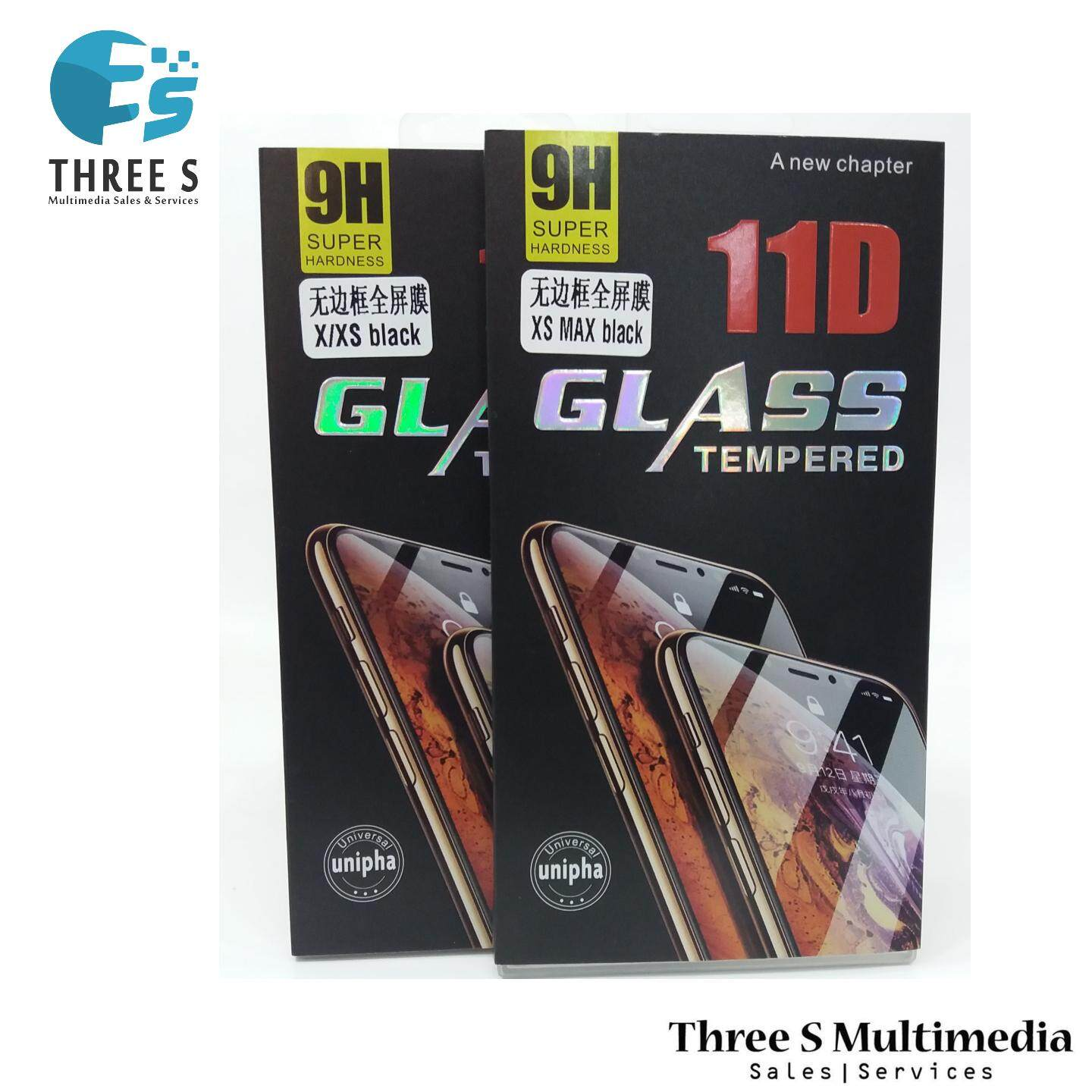 SCREEN PROTECTOR IPHONE X/XS BLACK 9H 11D GLASS TEMPERED