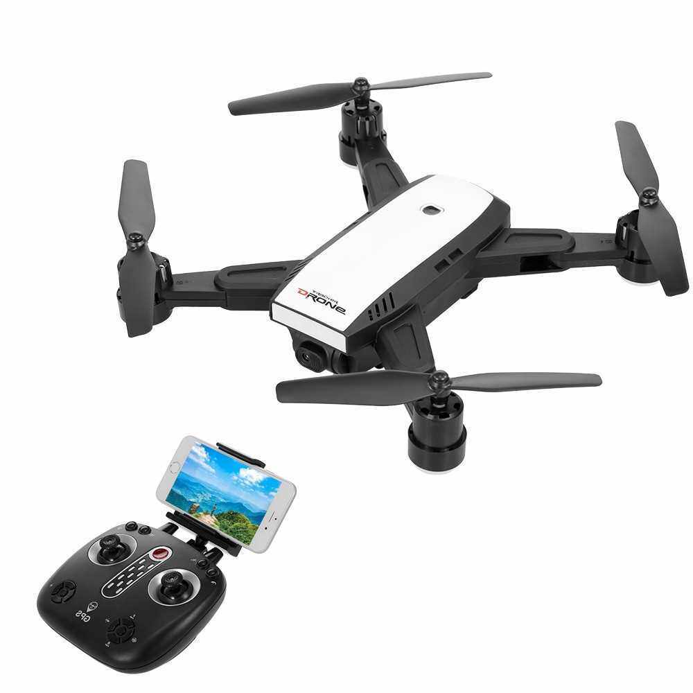 Lead Honor LH-X28G 720P Wifi FPV Adjustable Camera GPS Positioning Follow Me Altitude Hold RC Drone for Training (White)
