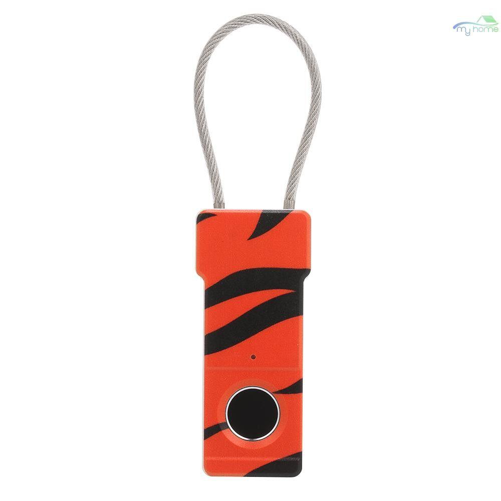 Chains & Locks - Smart Keyless Fingerprint Padlock Smart Keyless Finger Touch Lock Biometric Unlock Waterproof for - 03 / 02 / 01