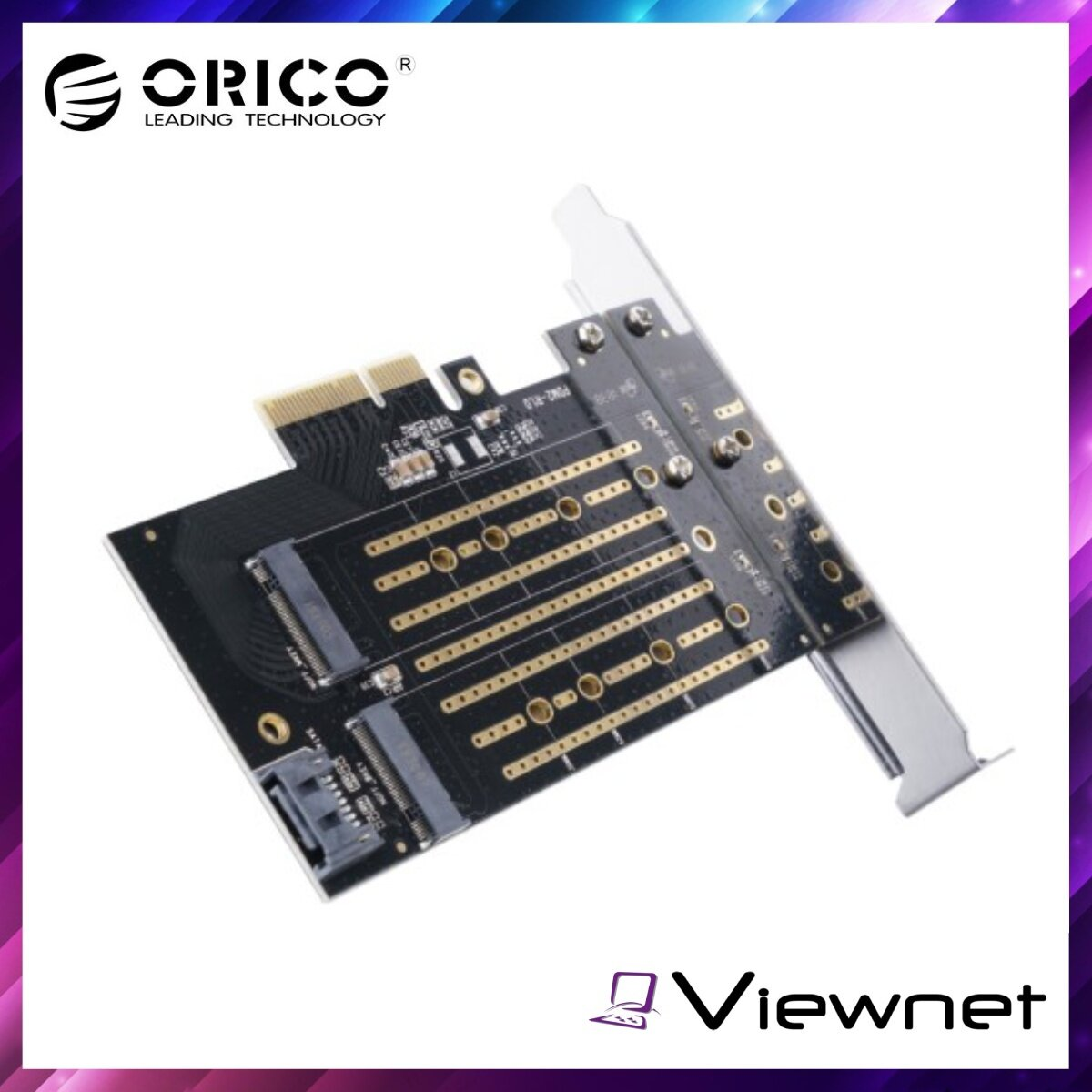 Orico M.2 NVME to PCI-E 3.0 X4 Expansion Card (ORICO-PDM2), 32G Super Speed, Supported SSD, Triple Performanc Guarantee