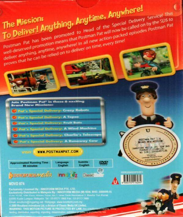 Postman Pat Special Delivery Services A Brand New Mission DVD