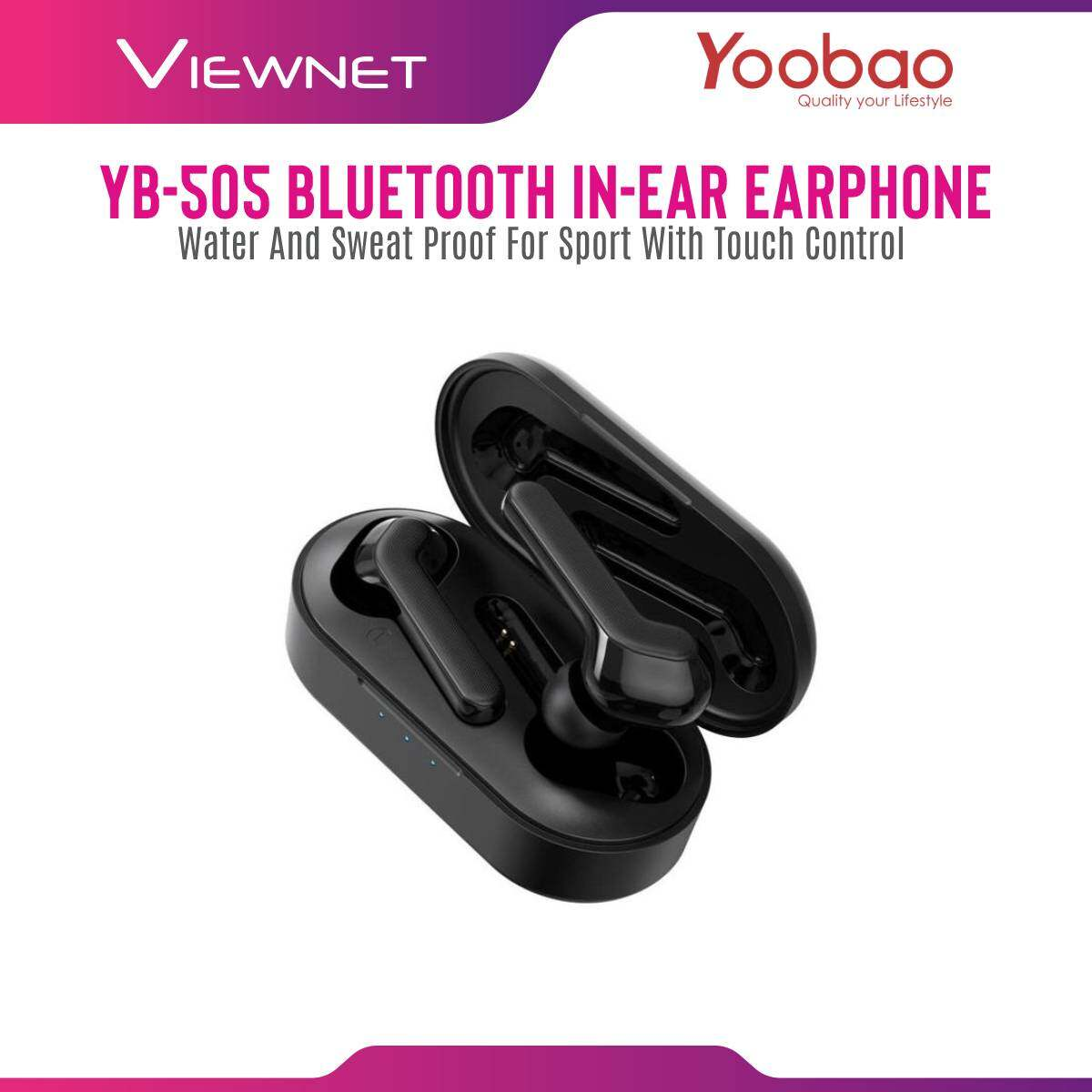 Yoobao YB-505 TWS Hi-Fi Stereo Wireless Bluetooth In-ear Earphone Water and Sweat Proof for Sport with Touch Control