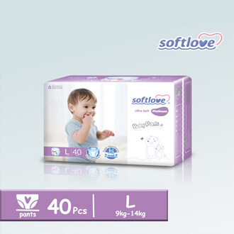 SoftLove Platinum Baby Pants / L size - 40pcs