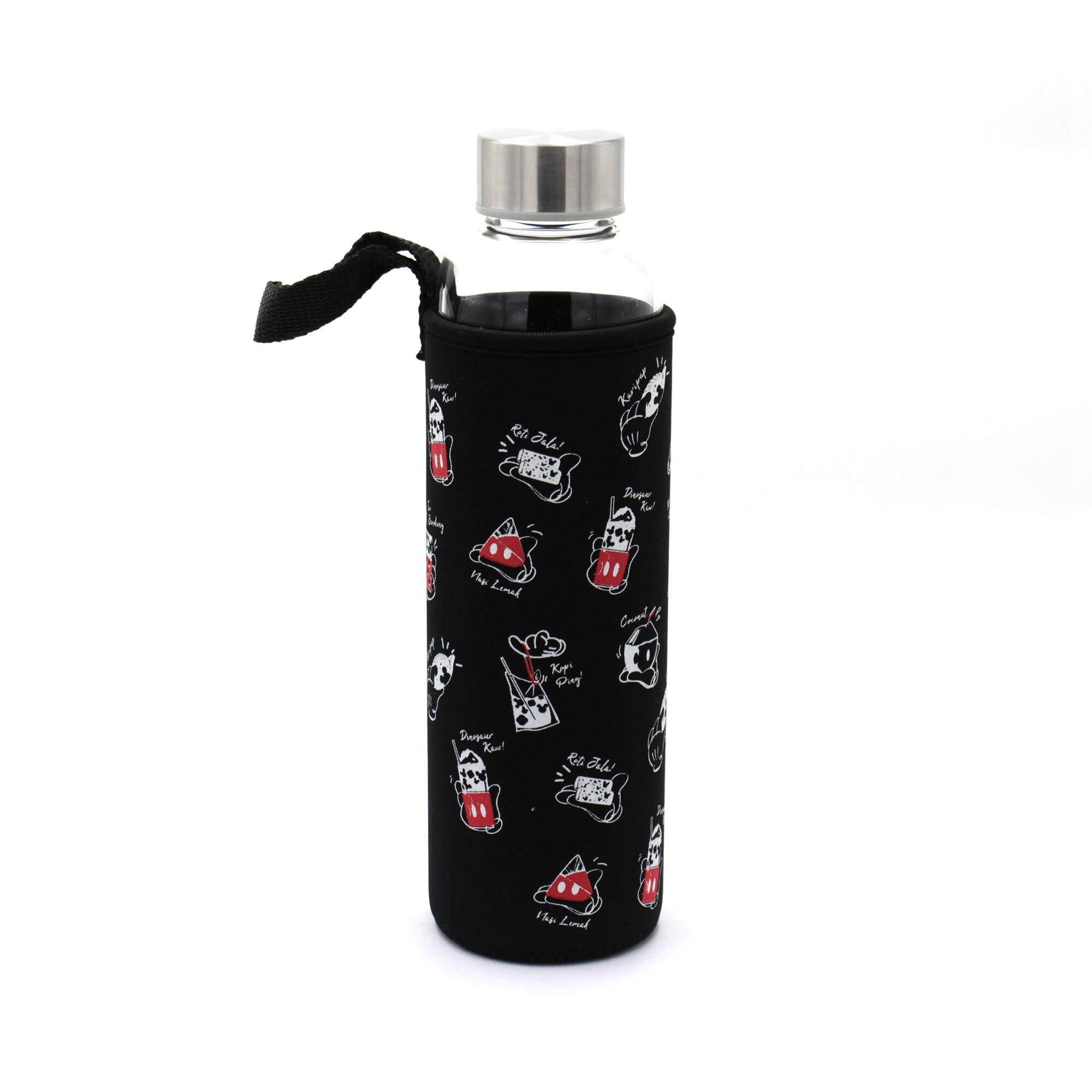 Disney Mickey Go Local 500ml Glass Water Bottle - Kopi Ping