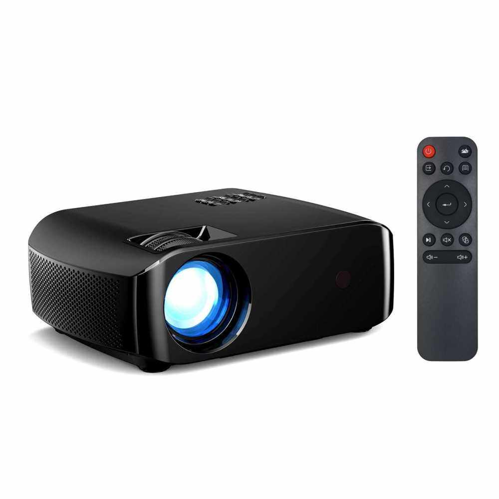 F10 LED Projector For Home Beamer Full HD 1080P Mini Home Cinema Theater Projection Machine Wireless Display Support HD AV USB (Black)