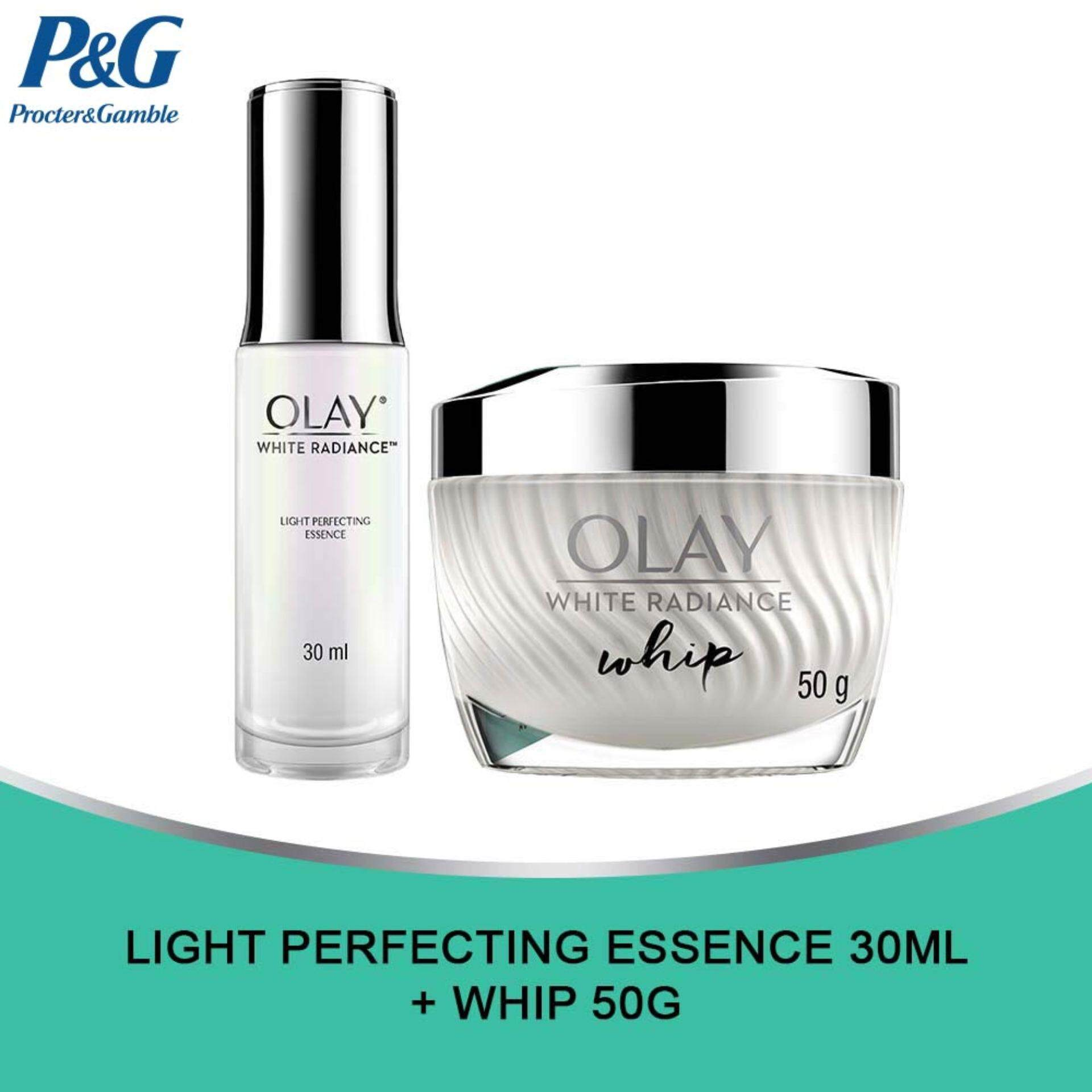 Olay White Radiance Light Perfecting Essence 30ml and Whip 50g Set