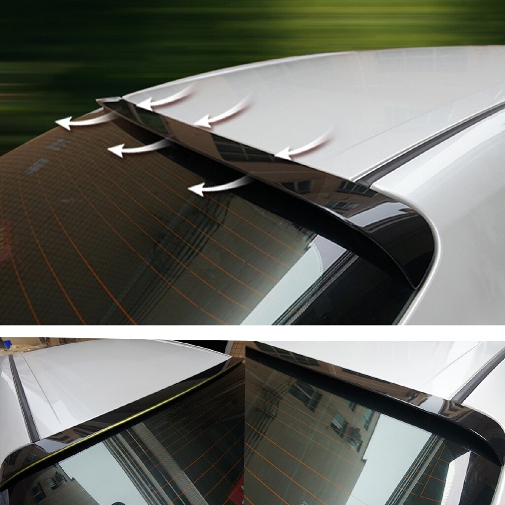 Car Stickers - Rear Window Roof Spoiler Wing Lip Sport Glossy Black For Toyota Camry - Accessories