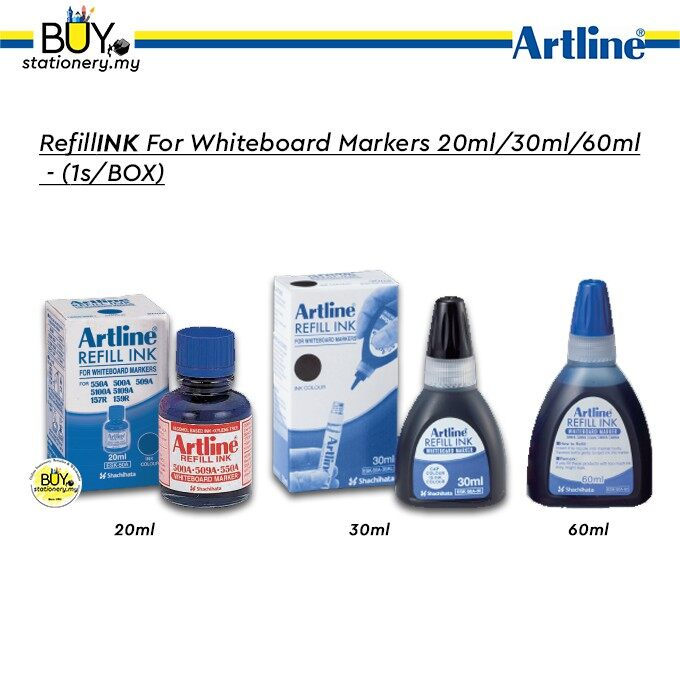 Artline Refill INK For WhiteBoard Markers 20ml/30ml/60ml - (1s/BOX)