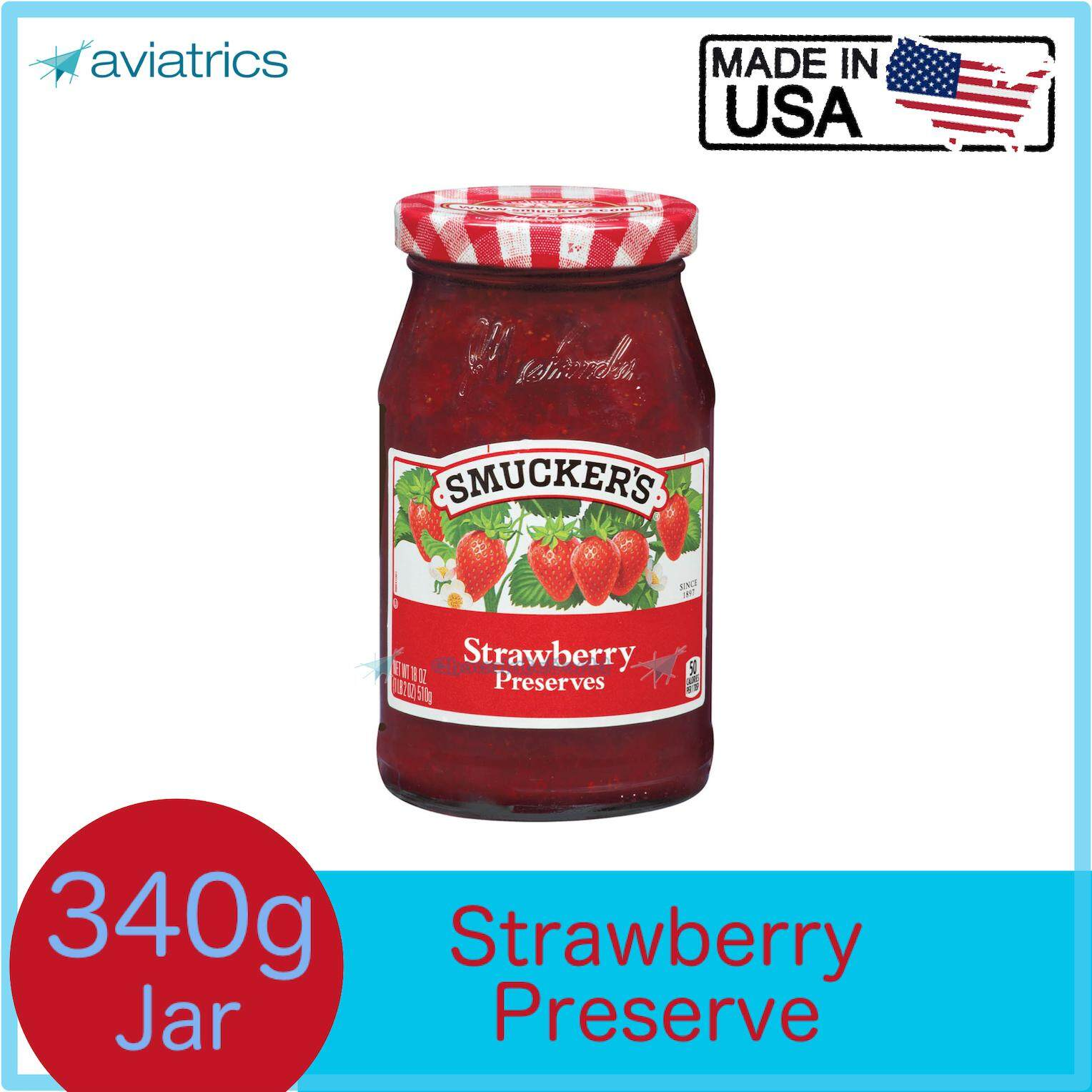 Smuckers Strawberry Jam Preserves 340g (Made In USA)