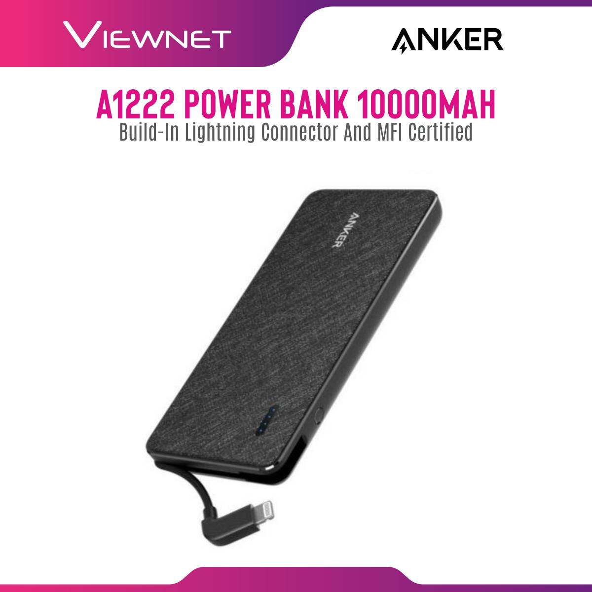 Anker A1222 PowerCore+ Metro 10000mah Power Bank with build-in Lightning Connector and MFI certified