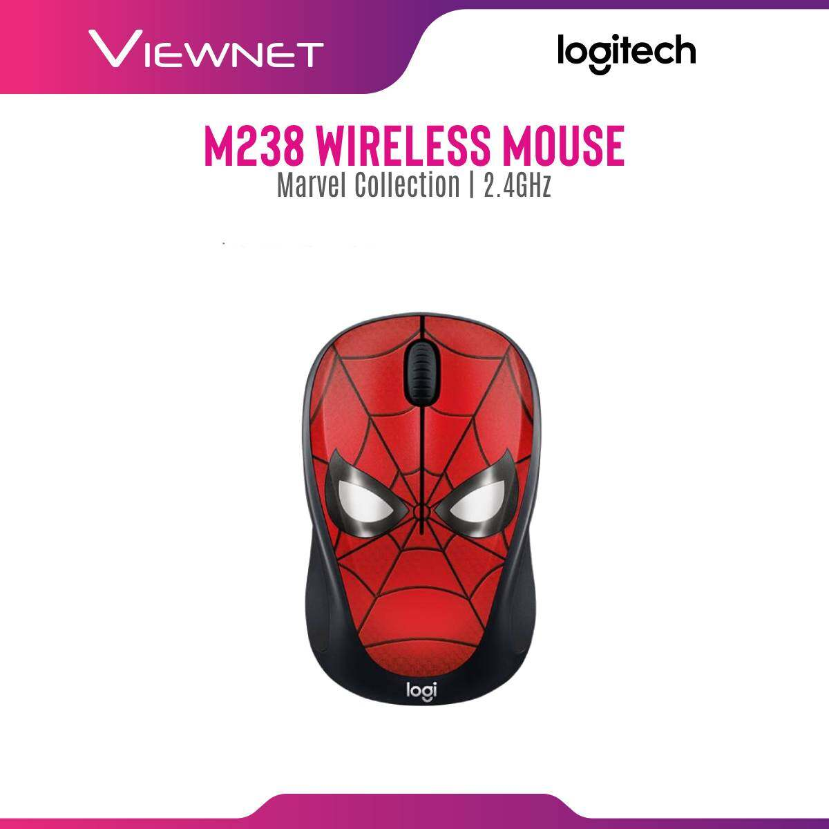 LOGITECH WIRELESS MOUSE M238 MARVEL COLLECTION BLACK PANTHER/CAPTAIN AMERICA/CAPTAIN MARVEL/IRONMAN/SPIDERMAN