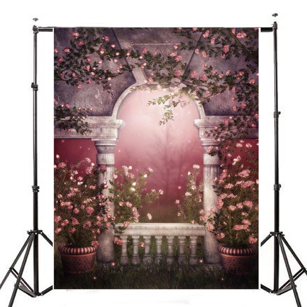 Lighting and Studio Equipment - 5x7FT Garden Pots Flower Romantic Wedding Backdrop Photography Background Props - Camera Accessories