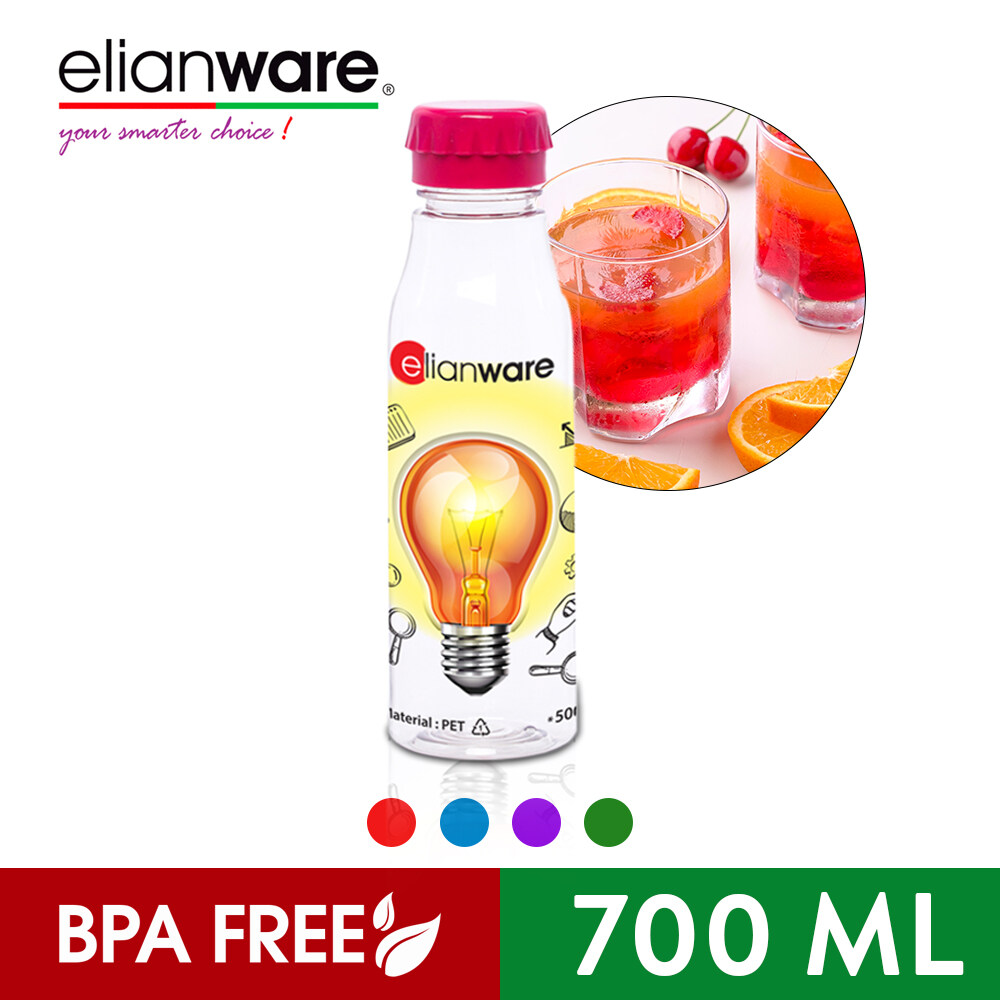 Elianware 700 ml Glass-Like Transparent Outdoor Sporty Water Bottle Tumbler