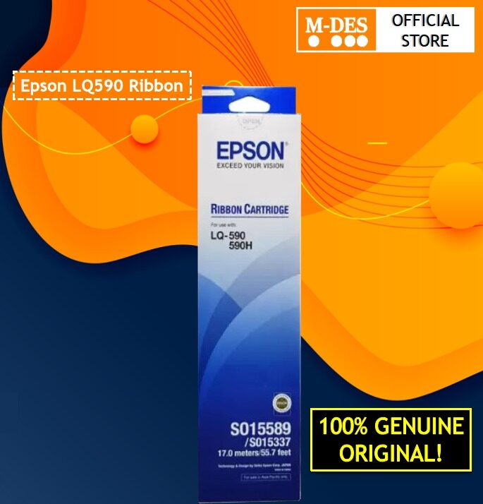 Epson LQ590 Ribbon (EPS SO15589) ORIGINAL 100% LQ-590 x1pc