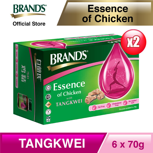 BRAND'S® Essence of Chicken with Tangkwei Twin Pack (6's) - 12 bottles x 70gm