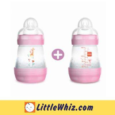 MAM: Easy Start Anti-Colic Bottle 160ml - 2pcs - Pink Giraffe