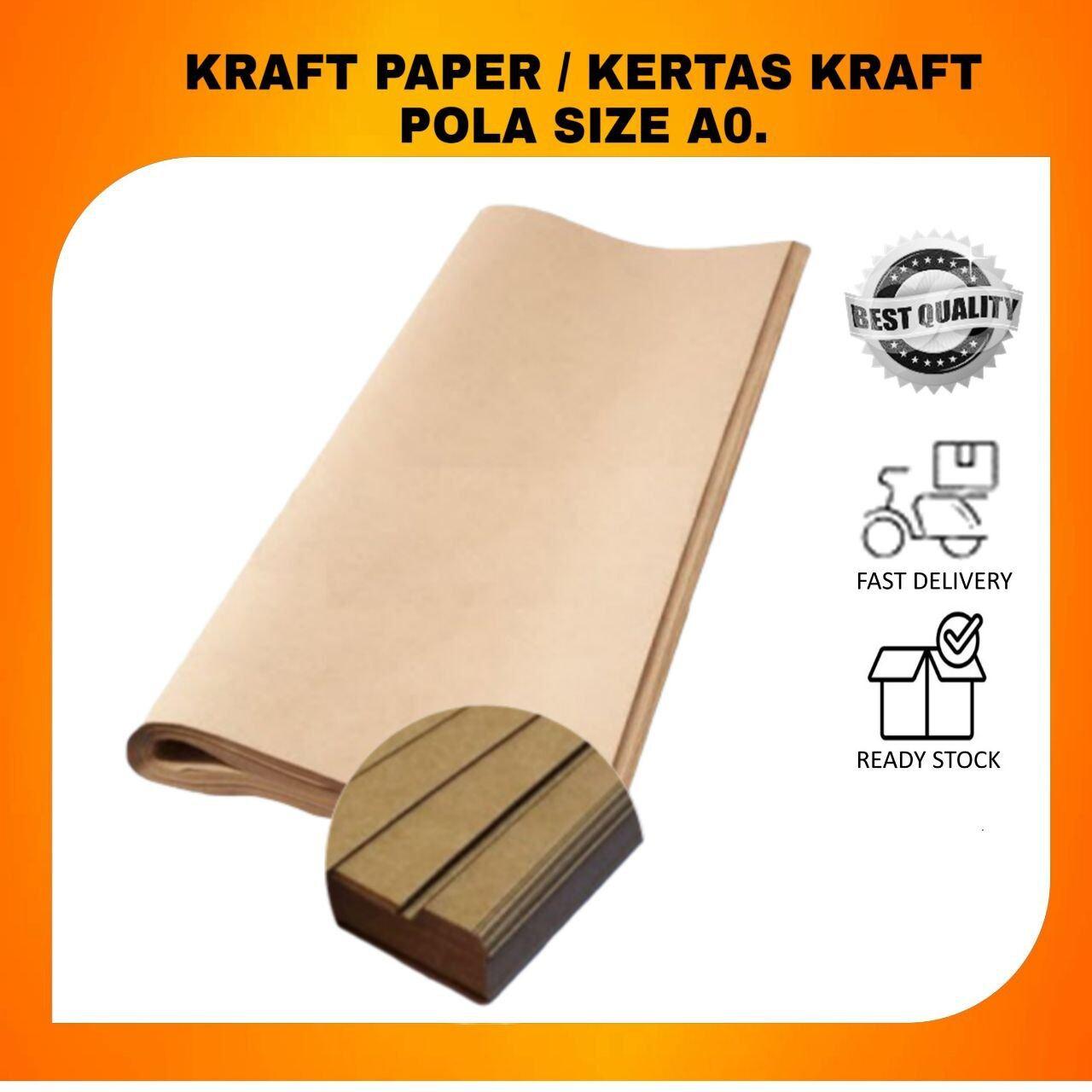 KRAFT PAPER / KERTAS KRAFT POLA SIZE A0 (10 PIECES)