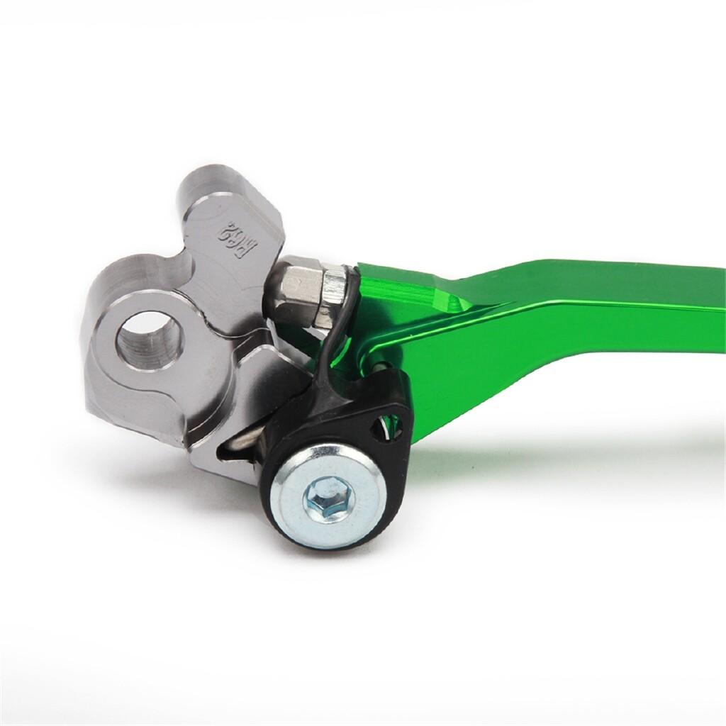 Moto Accessories - CNC Aluminum Motorcycle Brake Clutch Levers For Kawasaki KX125 KX250 KX250F - ORANGE / GOLD / RED / BLUE / GREEN / BLACK