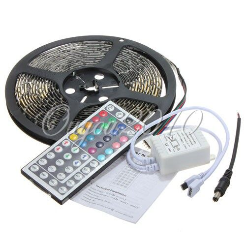 Car Lights - 5M 300LED RGB 3528 SMD Waterproof Flexible Light Strip+ 44 key Remote Control - Replacement Parts