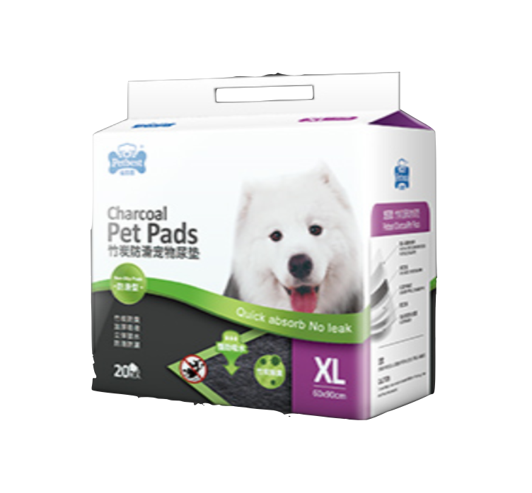 Petbest【宠百思】Non-Slip Charcoal Toilet Training Pet Pads / Wee Wee Pads / Urine Pads 防滑竹炭宠物尿垫 XL Size (60cm x 90cm) 20pcs