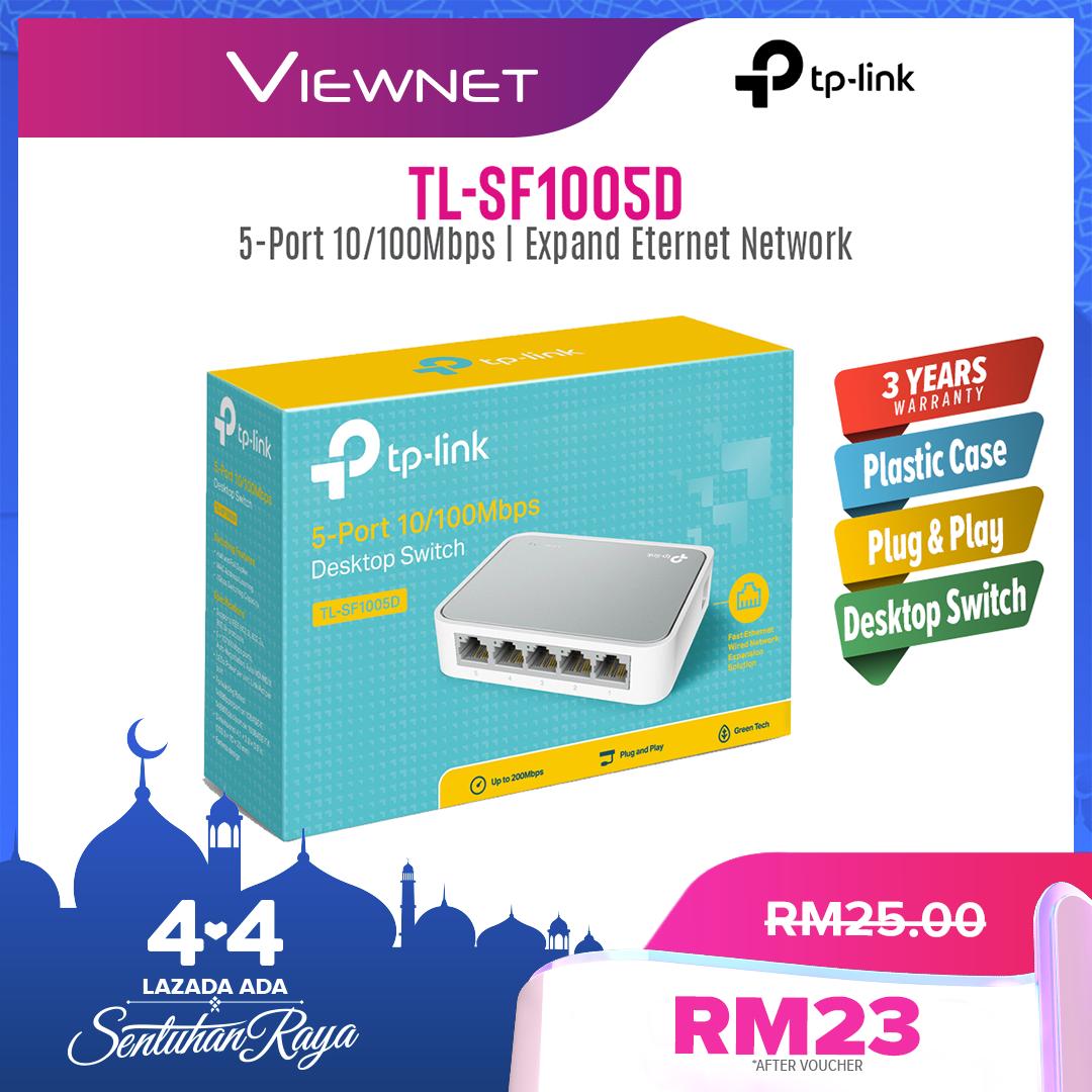 TP-LINK 5-Port 10/100Mbps Desktop Network Switch TL-SF1005D