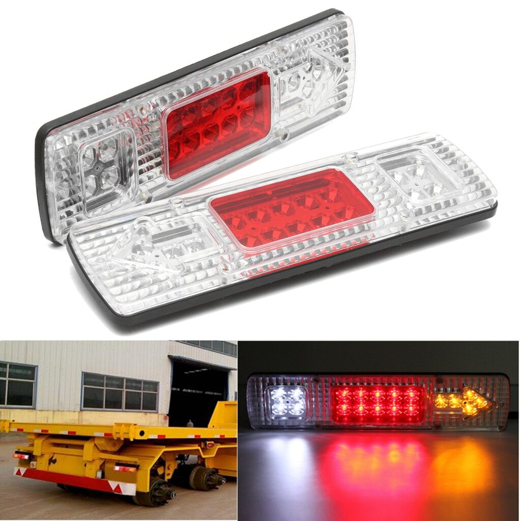 Engine Parts - 2x 19 LED Truck lorry Trailer Rear Tail Reverse Turn Indicator Light Lamp 12V - Car Replacement