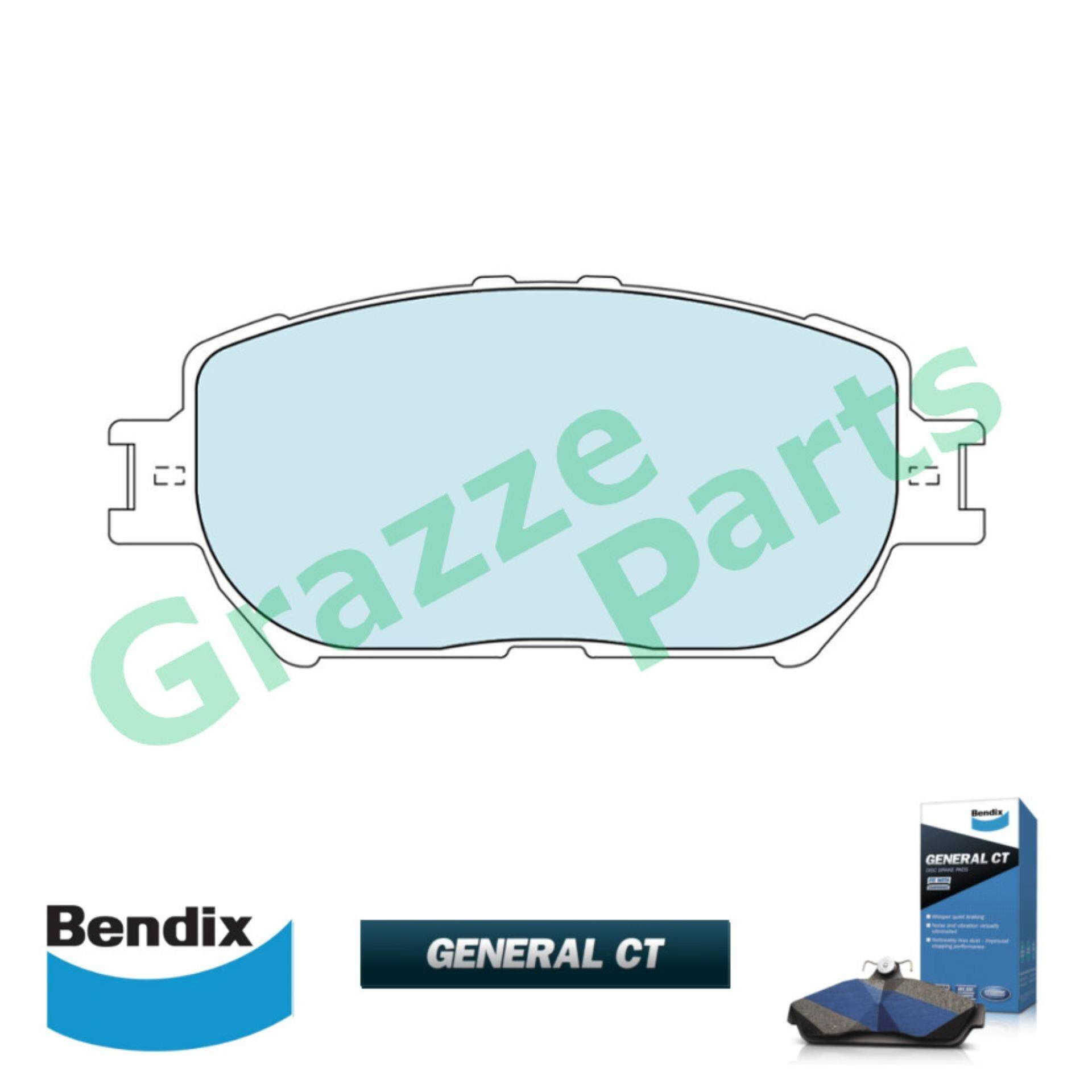 Bendix General CT Disc Brake Pad Front for DB1462 - Toyota Camry ACV30 ACV31 2.0 2.4 Wish