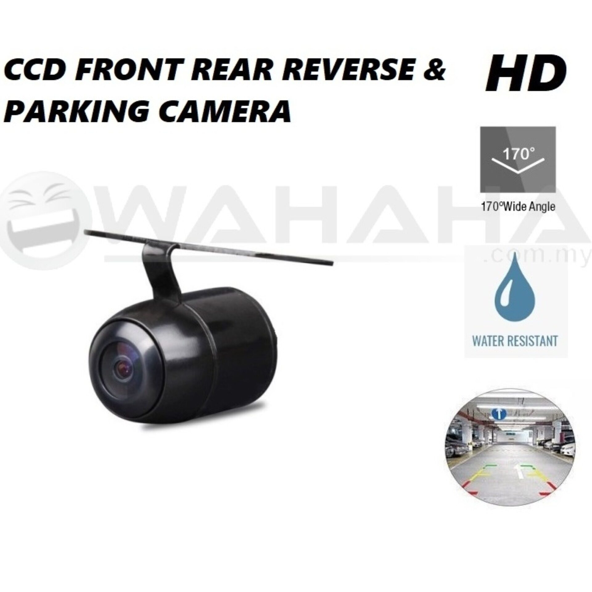 Car Front & Rear View Reverse Camera Parking Camera CCD Butterfly 170 Degree Wide Angle HD Camera