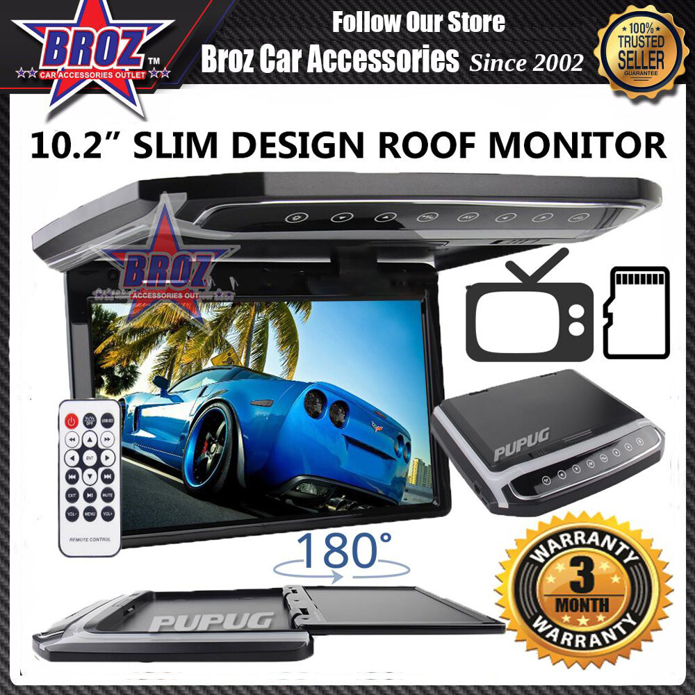 10.2 Inch TFT Overhead Car Roof Mount Monitor FM Transmitter LED HDMI Video SD