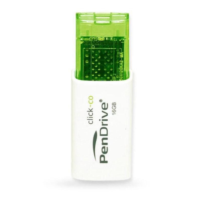 PenDrive Click-Co USB 2.0 Flash Drive (16GB Green / 32GB Yellow / 64GB Blue) Plug & Play, Limited Lifetime Warranty