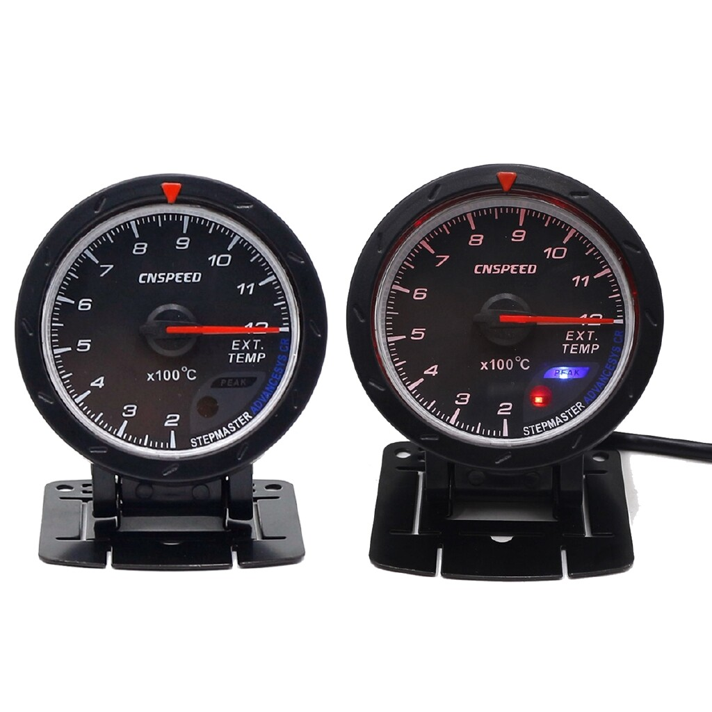 Moto Accessories - 2.5\'\' 60MM LED Turbo EGT Exhaust Gas EXT Temperture Temp Gauge Meter Pod Holder - Motorcycles, Parts
