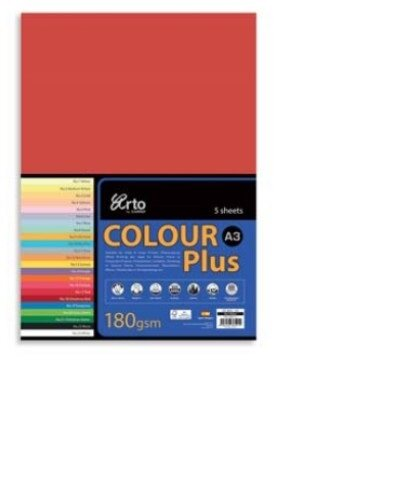 CAMPAP-ARTO 180gms A3 5's COLOUR CARD x 3pkts OLD GOLD