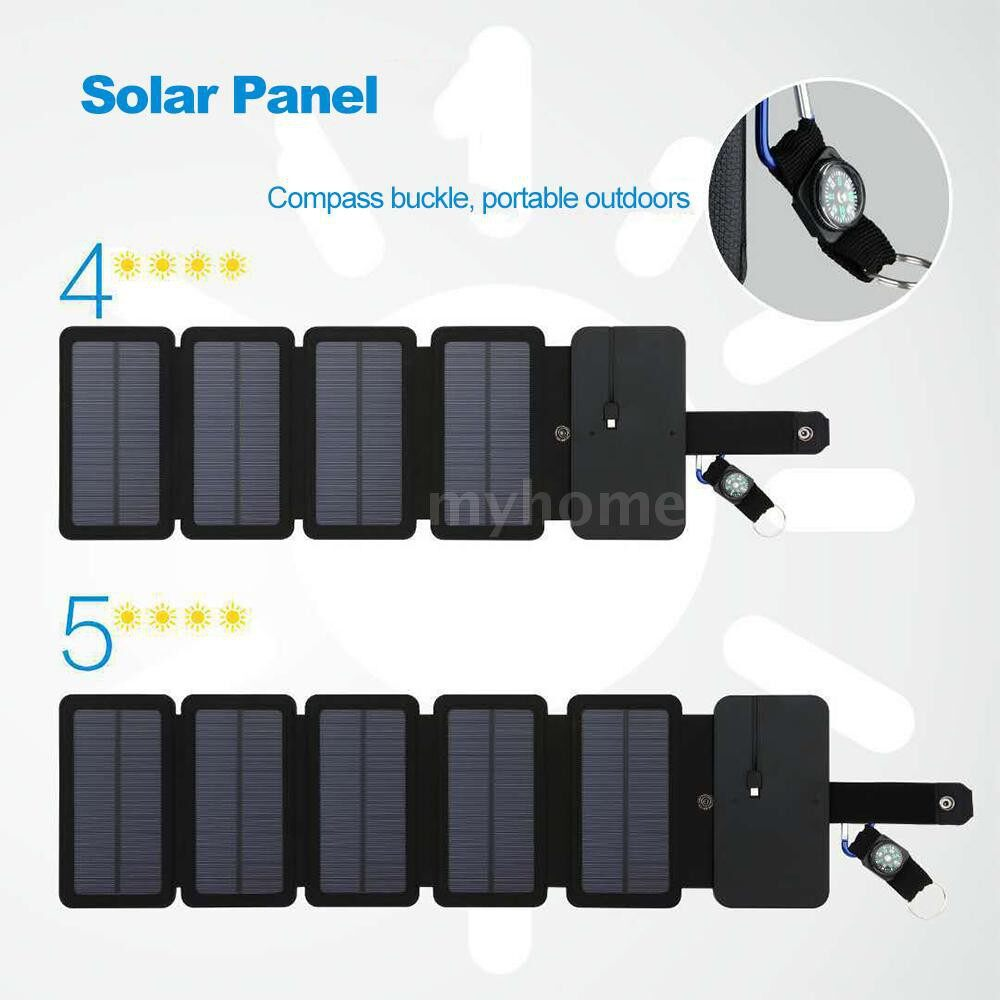 Lighting - Outdoor Solar Power Charger Mobile Phone Charger Mobile Power Folding Removable Solar Panel - 5 PIECE(s) / 4 PIECE(s)