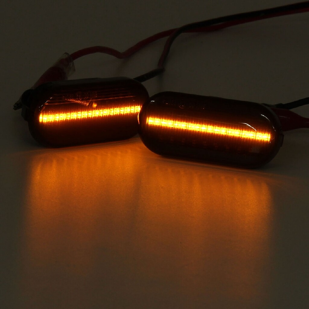 Car Lights - 2x Smoke LED Side Repeaters Indicator Light For VW Golf /Passat /Bora/T5/Polo - Replacement Parts