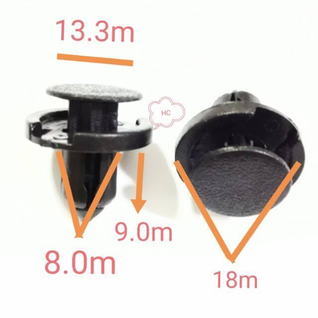 50 Pcs Nissan Almera/Navara/ Livina Panel bumper clip