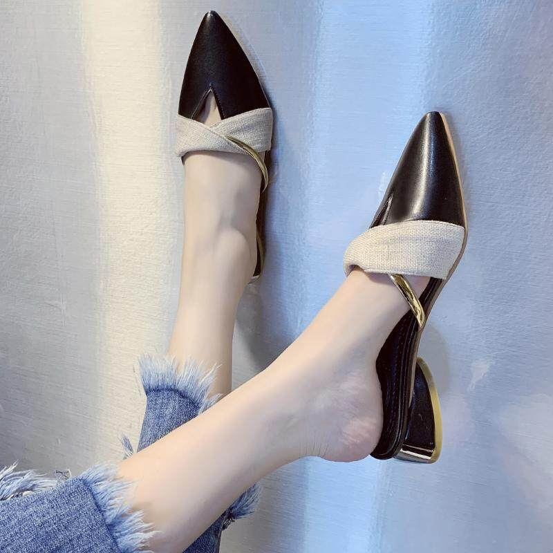 (PRE ORDER) WOMEN WILD V MOUTH FASHION WEAR WITH POINTED MULLER SHOE