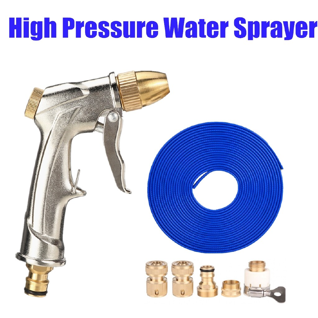 Wash & Wax - 100% Brass High Pressure Hose Spray Nozzle washer 1/4Connector Car Wash Tool - Car Care