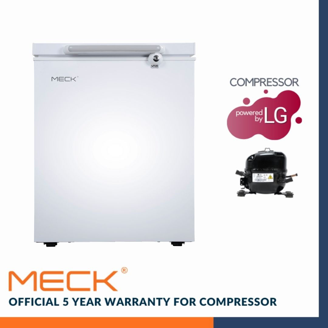MECK Chest Freezer 100L Single Door MFZ-80R6