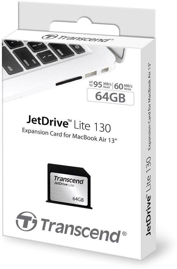 Transcend Jet Drive Lite 130 64GB (Memory Card) for Macbook Air 13 Inch (Late 2010 - 2017)