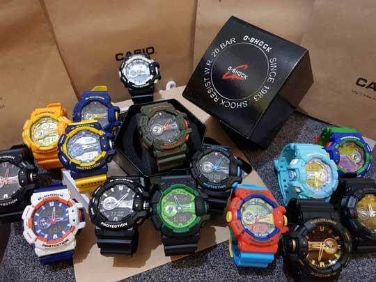 {Promotion} Fashion Premium Quality Men Casio G-SHOCK_GA-400 LIMITED STOCK Autolight Sports Resin Watch Mineral Glass Dual Time Display Full Auto Calender