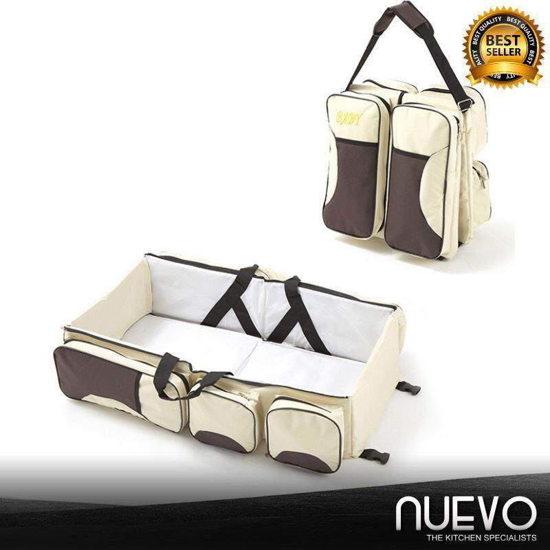 Nuevo Foldable Crib Bag Portable Multi-Function Large Capacity Mummy Bag Portable Travel Bed