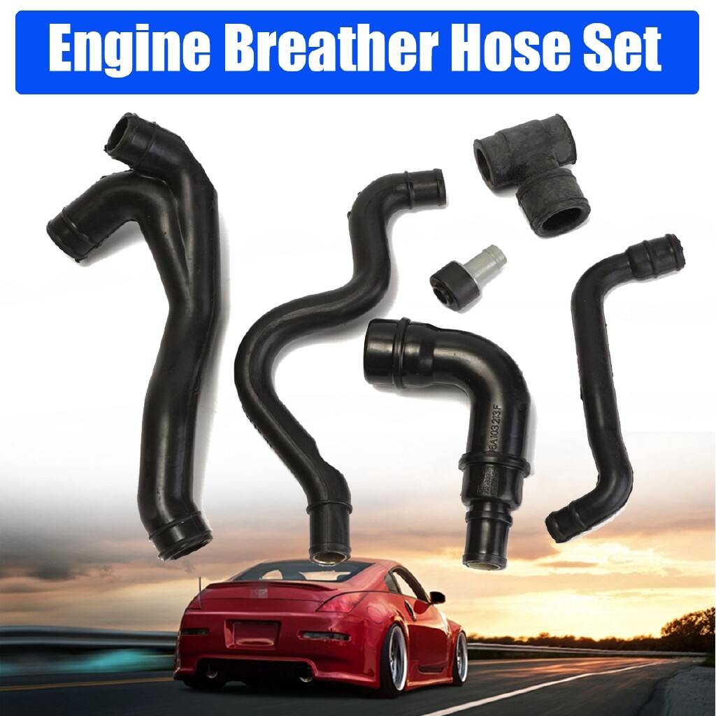 Automotive Tools & Equipment - 6 PIECE(s) SET Black Engine Crankcase Breather Hose Pipe 99-03 For VW Golf Jetta Golf - Car Replacement Parts