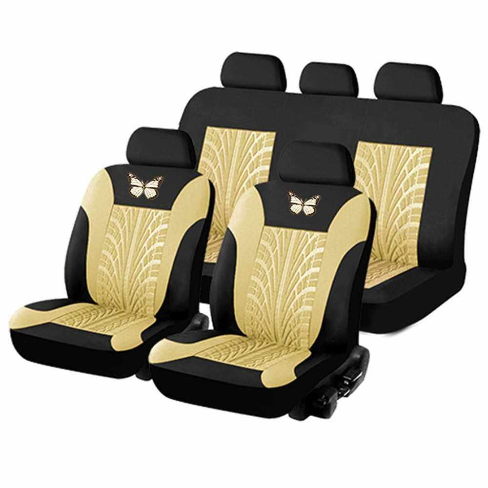 People's Choice Car Seat Covers Front and Rear Split Bench Protection 5 Seaters Easy to Install Compatible with 90% Vehicles (Auto Truck Van SUV) (Be)