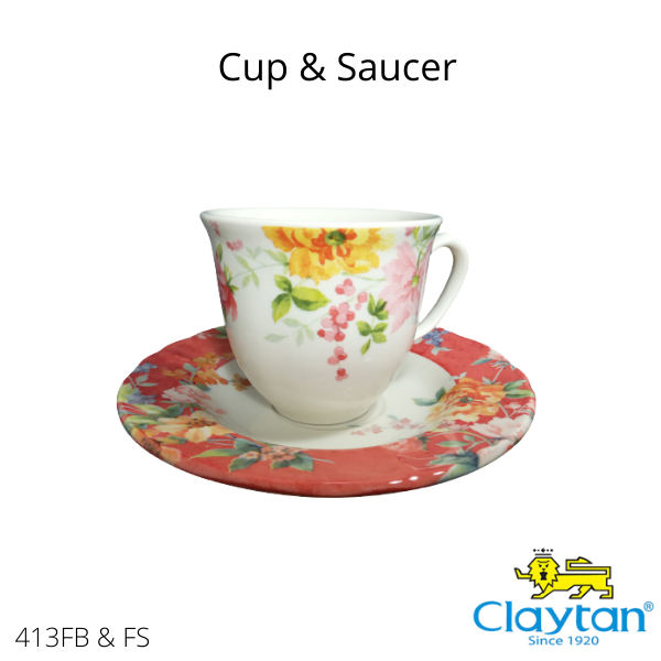 Claytan Tableware- Oriental Ceramic -413FA/FS Crimson