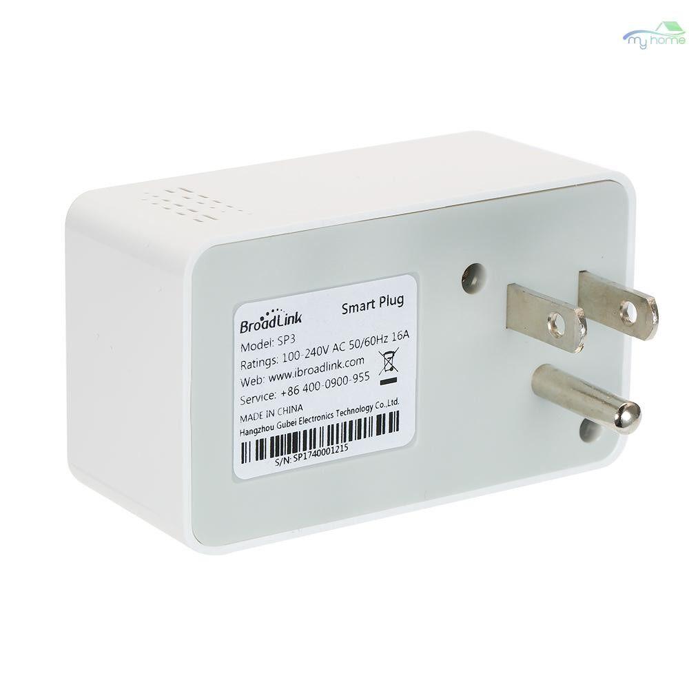Plugs & Adapters - Broadlink SP3S-EU Smart WiFi Socket Power Plug Outlet Energy Monitoring Function Smart Phone APP - EU-S / US-S / CL / UK