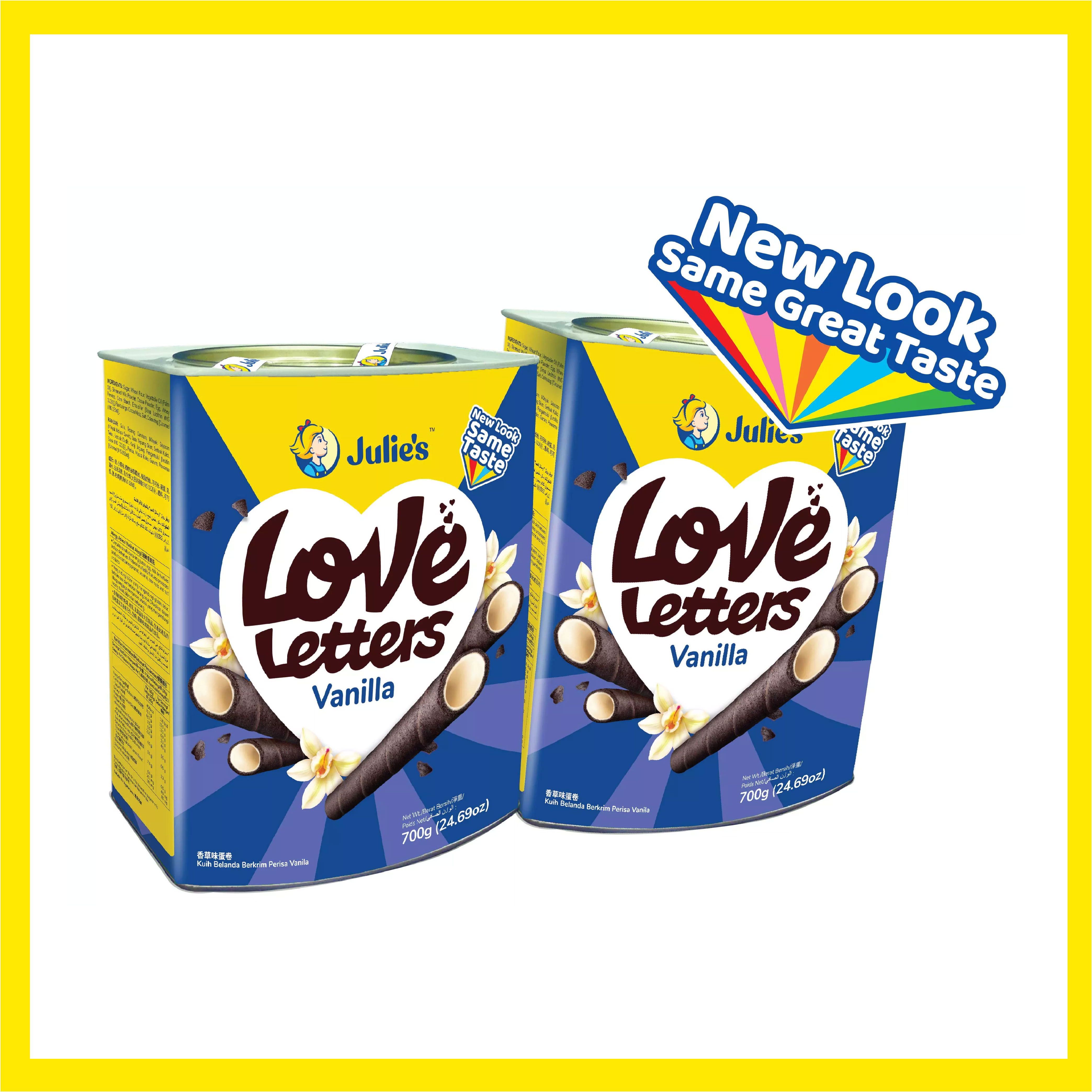 Julie's Love Letters Vanilla 700g x 2 tins [Inner Pack Online Exclusive]