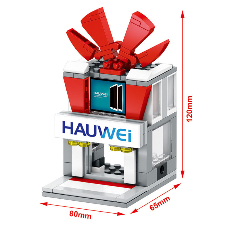 SEMBO SD6051 Mini Street Huawei Store Building Blocks