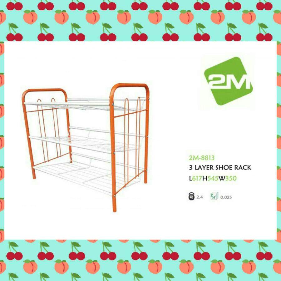 3 layer shoe rack/ Rak kasut besi 3 tingkat DIY 2M-8813